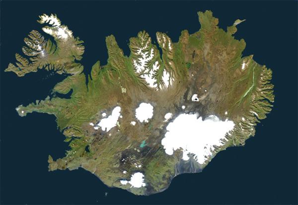 Mapa-Islândia