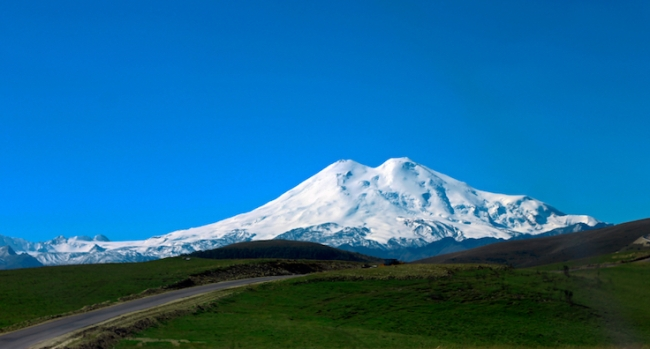 Elbrus mountain is highest peak of Europe