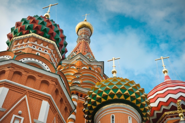 St Basils cathedral on Red Square in Moscow.